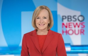 Judy Woodruff at the newsdesk