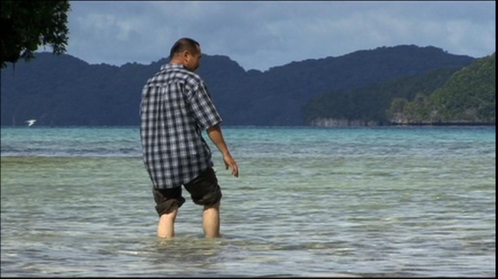 Uighur man in Palau