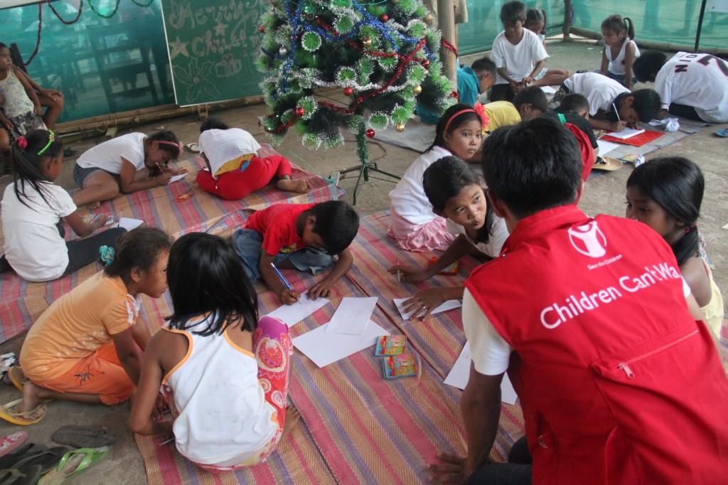 "Designated ""child-friendly space"" in the Philippines. Photo courtesy of Save the Children"
