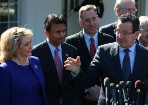 State Governors Speak To Media After Meeting With President Obama