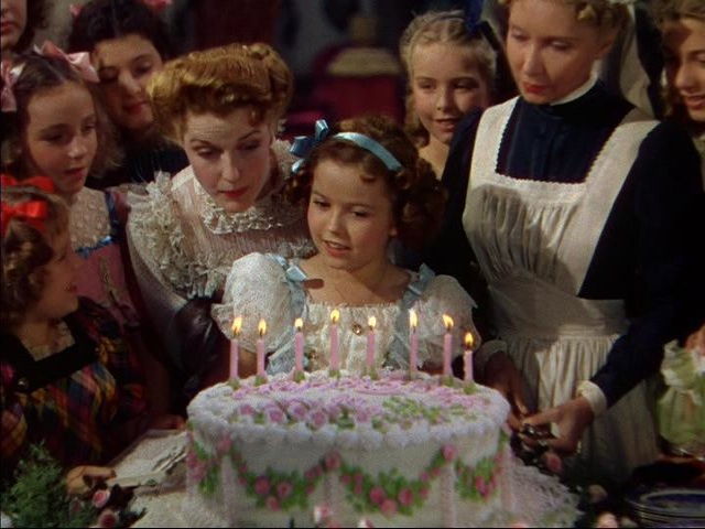 "Shirley Temple in 1939's ""A Little Princess."" Film produced by 20th Century Fox"