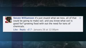 Viewer response to food waste report.