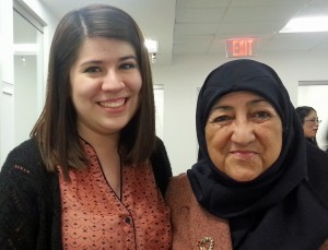 Student Stephanie Arzate and Sakena Yacoobi, director of the Afghan Institute of Learning