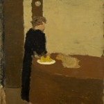 Edouard Vuillard (French, 1868 - 1940 ), Woman in Black, c. 1891, oil on cardboard, Ailsa Mellon Bruce Collection