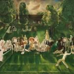 George Bellows, Tennis Tournament, American, 1882 - 1925, 1920, oil on canvas, Collection of Mr. and Mrs. Paul Mellon