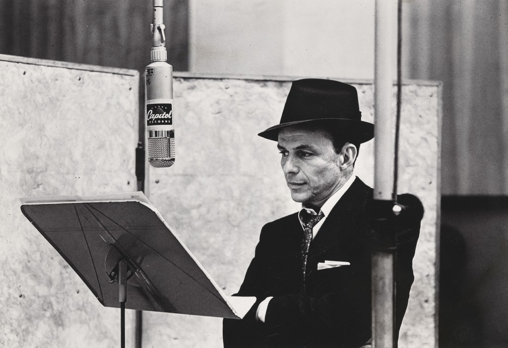 Photo of Frank Sinatra by Herman Leonard. Courtesy of National Portrait Gallery.