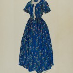 Ray Price, Dress, American, active c. 1935, c. 1938, watercolor, gouache, and pen and ink on paper, Index of American Design