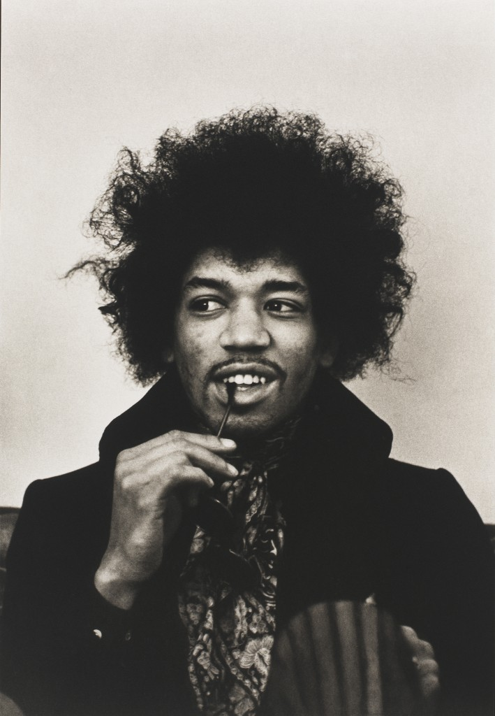 Photo of Jimi Hendrix by Linda McCartney. Courtesy of National Portrait Gallery.