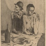 Pablo Picasso, The Frugal Repast (Le repas frugal), French, 1867 - 1939, 1904, etching (zinc),