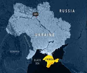 Map of Russia, Ukraine and Crimea, NewsHour Weekend