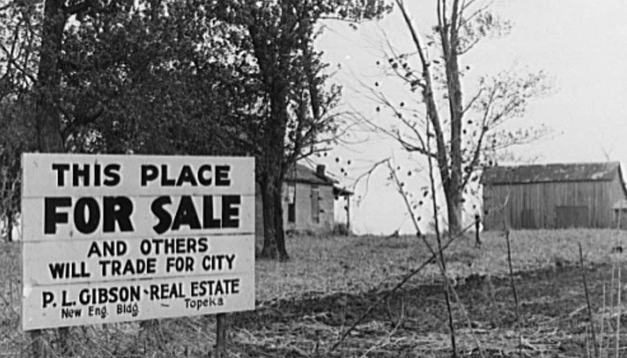 Farm for sale. Jefferson County, Kansas, Farm Security Administration Photo, 1938. Library of Congress