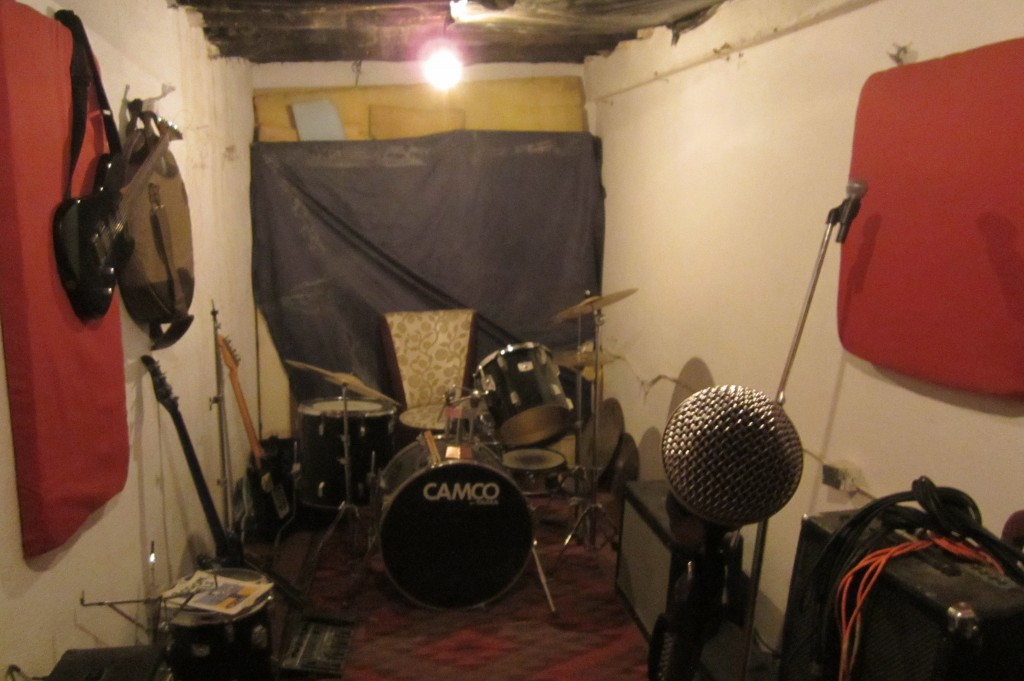 A converted room in a restaurant in Kabul serves as a studio for performers-in-training. Photo courtesy of Sound Studies Projects