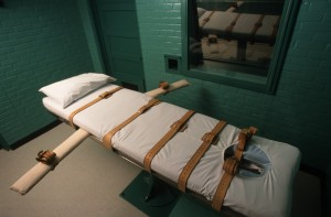 A Nevada judge effectively put the execution of a two-time killer on hold Wednesday after a pharmaceutical company objected to the use of one of its drugs to put someone to death.Photo by Joe Raedle/Newsmakers via Getty Images