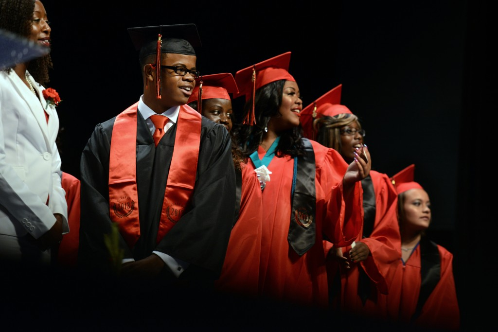 The Education Department said Tuesday that the high school graduation rate rose slightly to 82 percent. Photo by Jahi Chik...