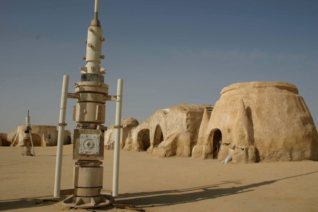 One of the original Tatooine sets in Tunisia. Photo by Education Images/UIG via Getty Images