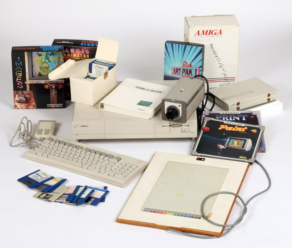 Commodore Amiga computer equipment used by Andy Warhol 1985-86. Image courtesy of The Andy Warhol Museum