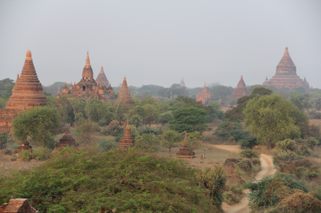Bagan, the capital of a former Burmese Kingdom, is an archeological wonder dating back to the 11th century. It's said to contain the highest concentration of Buddhist architecture in the world.  Several thousand pagodas and temples in a variety of shapes, styles and sizes dot the landscape. Photo by Mary Jo Brooks/PBS NewsHour