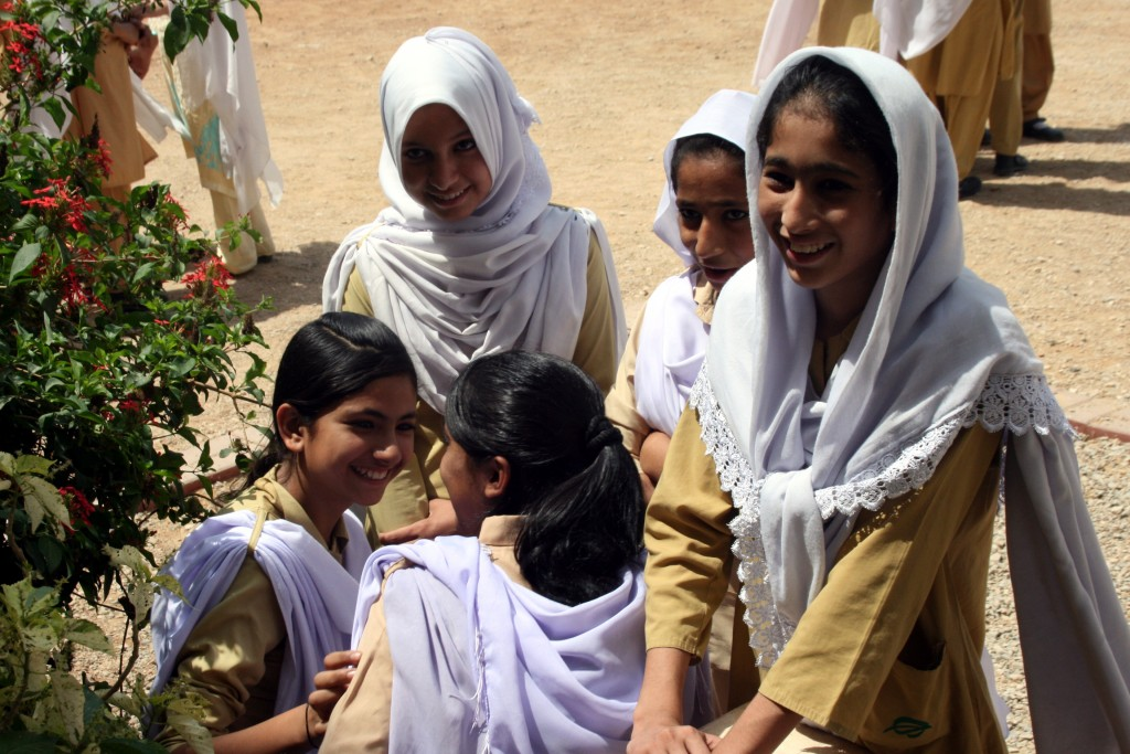 Students attend a school run by the Citizens Foundation in the area of Qayyumabad in Karachi, Pakistan. Photo by Larisa Epatko