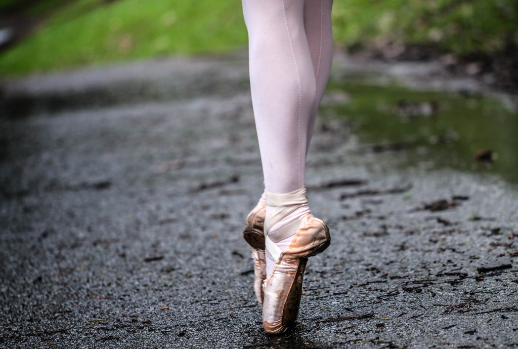 Alison Roper's pointe shoes, 2014 Photo by Kris Regentin/OPB