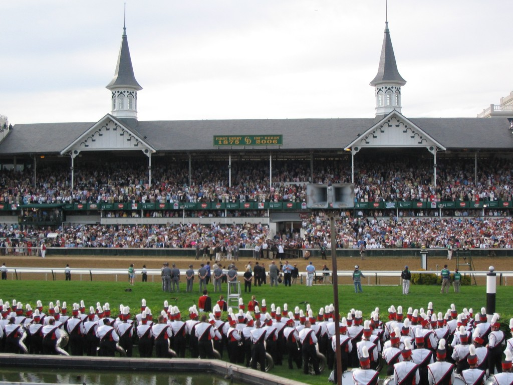 An interior view of Churchhill Downs during the running of the 2006 Kentucky Derby. Photo by Flickr user Richard Hurt