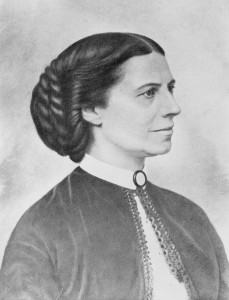 Clara Barton, from a portrait taken during the Civil War. Image from Library of Congress