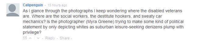 Calipenguin comment on Myra Greene
