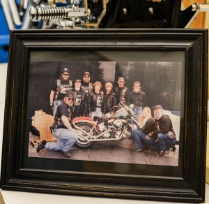 """On Memorial Day weekend in 1995, a group of bikers named """"the Committee"""" rode all the way from Wisconsin to Washington D.C. But they weren't just an ordinary motorcycle gang; this group of Vietnam War veterans brought with them a brand new motorcycle, made from scratch, named """"Bike for the Wall."""" The motorcycle was made in honor of the 37 POW/MIA's from Wisconsin to be brought to the Vietnam Veterans Memorial. (Photo by Ariel Min/PBS NewsHour)"""