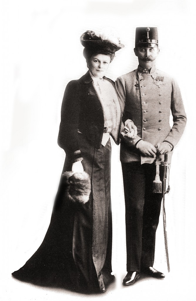 Franz Ferdinand and his wife, Sophie Chotek. Photo courtesy of Wikipedia Commons