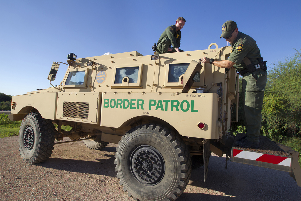 Texas Governor Rick Perry is deploying 1,000 Texas National Guard troops to the Texas-Mexico border to boost security during a surge in illegal immigration by children. Photo by U.S. Customs and Border Protection