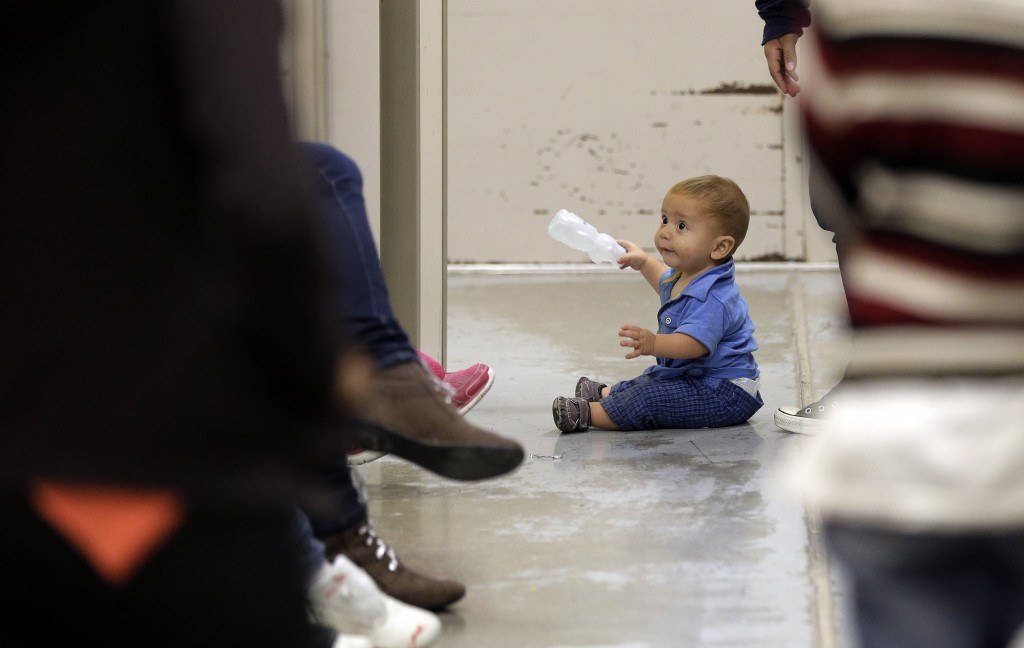 Image result for photos of migrant children at detention centers