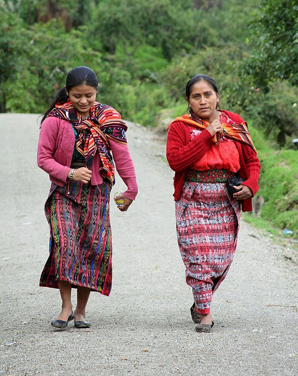 Studies show that besides genetics, childhood malnutrition plays a role in physical stunting. These adult women of the western highlands of Guatemala were barely past 4 feet tall. Photo by Hari Sreenivasan