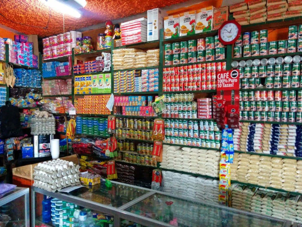 From dried goods, to school supplies to shoes and clothes, the general stores are where commerical producs meet rural Guatemalans. Photo by Hari Sreenivasan.