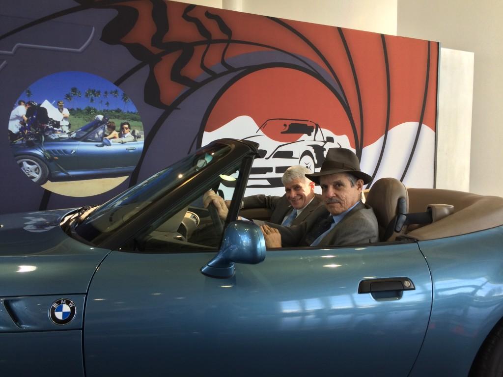 Paul Solman and Robert Lerman at BMW's Spartanburg, South Carolina, plant. Photo by Lee Koromvokis.