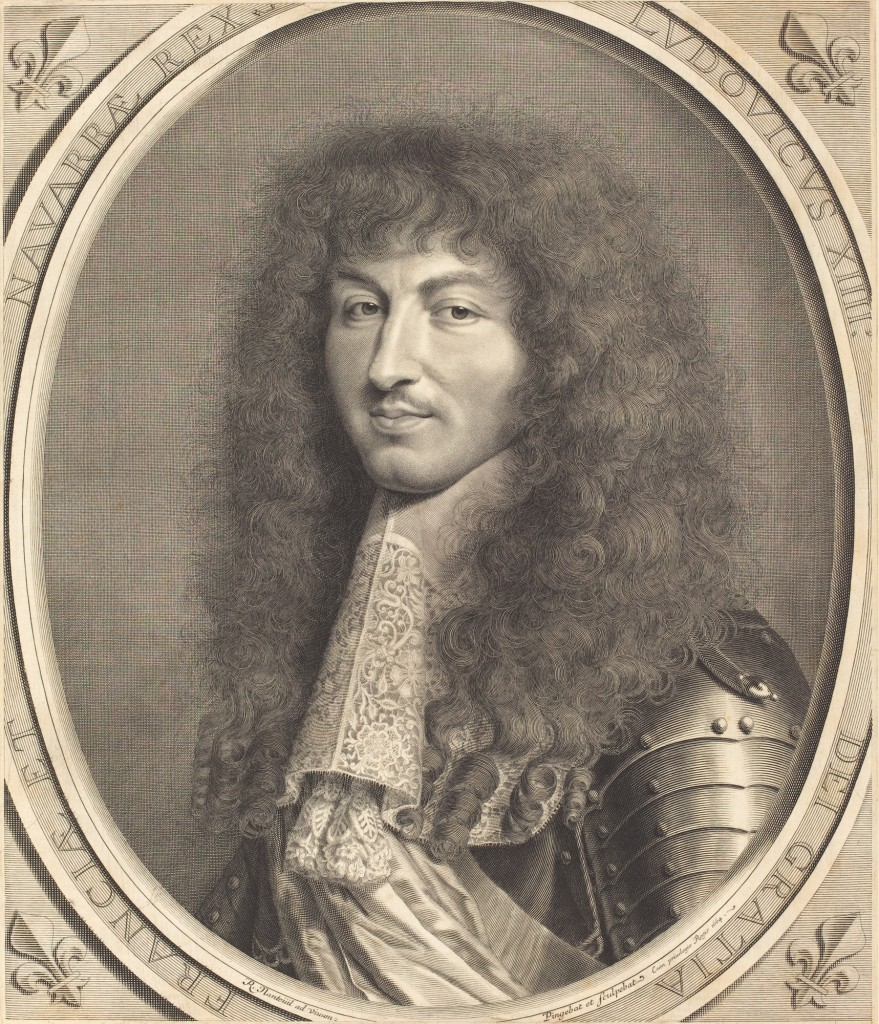 Engraving of King Louis XIV by Robert Nanteuil, courtesy of the National Gallery of Art's  open access collection.
