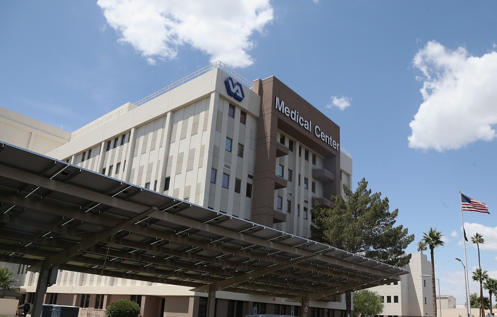 File photo of a Veterans Affairs Medical Center by Christian Petersen/Getty Images