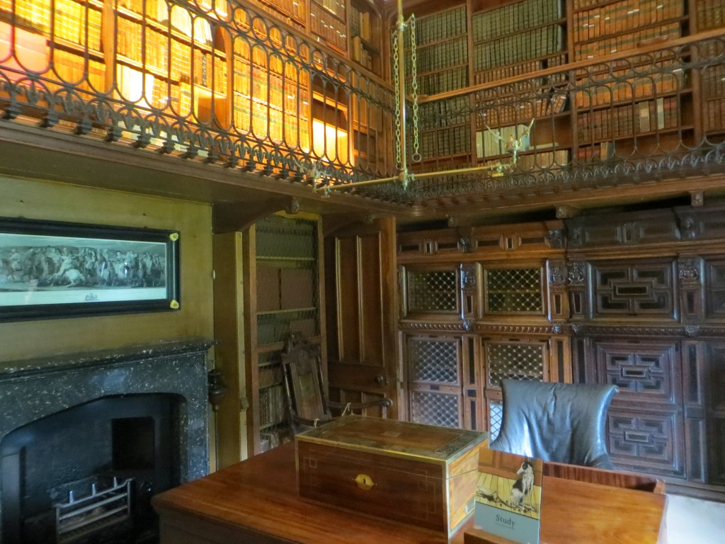 Scott's study was one of the last rooms at Abbotsford to be finished.  The desk is where he wrote the