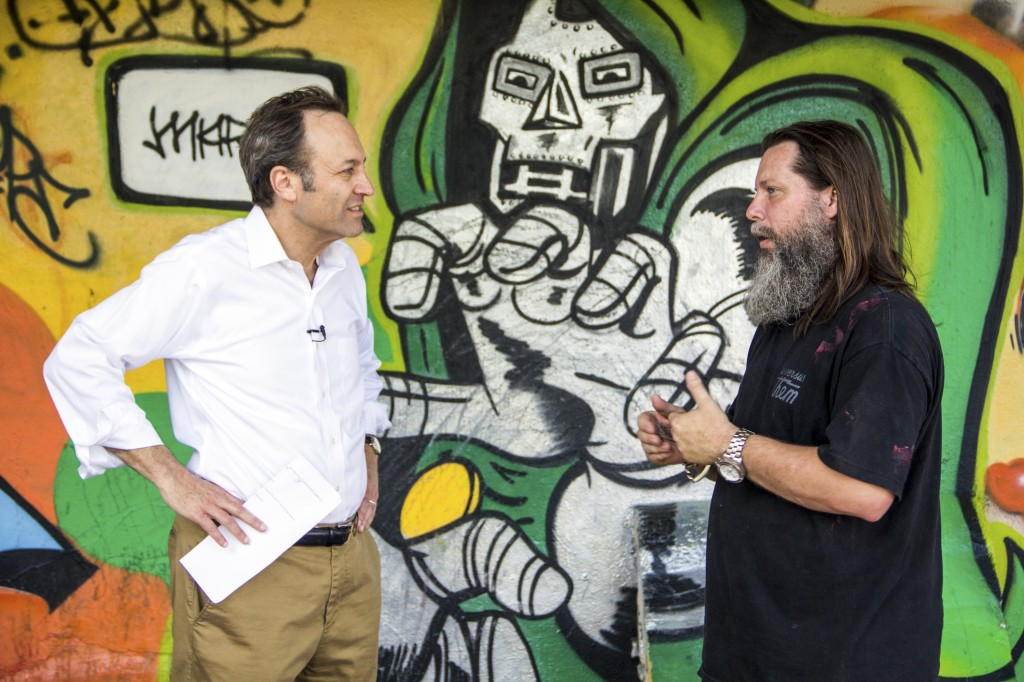 Jeffrey Brown recently spoke with graffiti artist RISK about street art's role in uplifting forgotten and abandoned places.