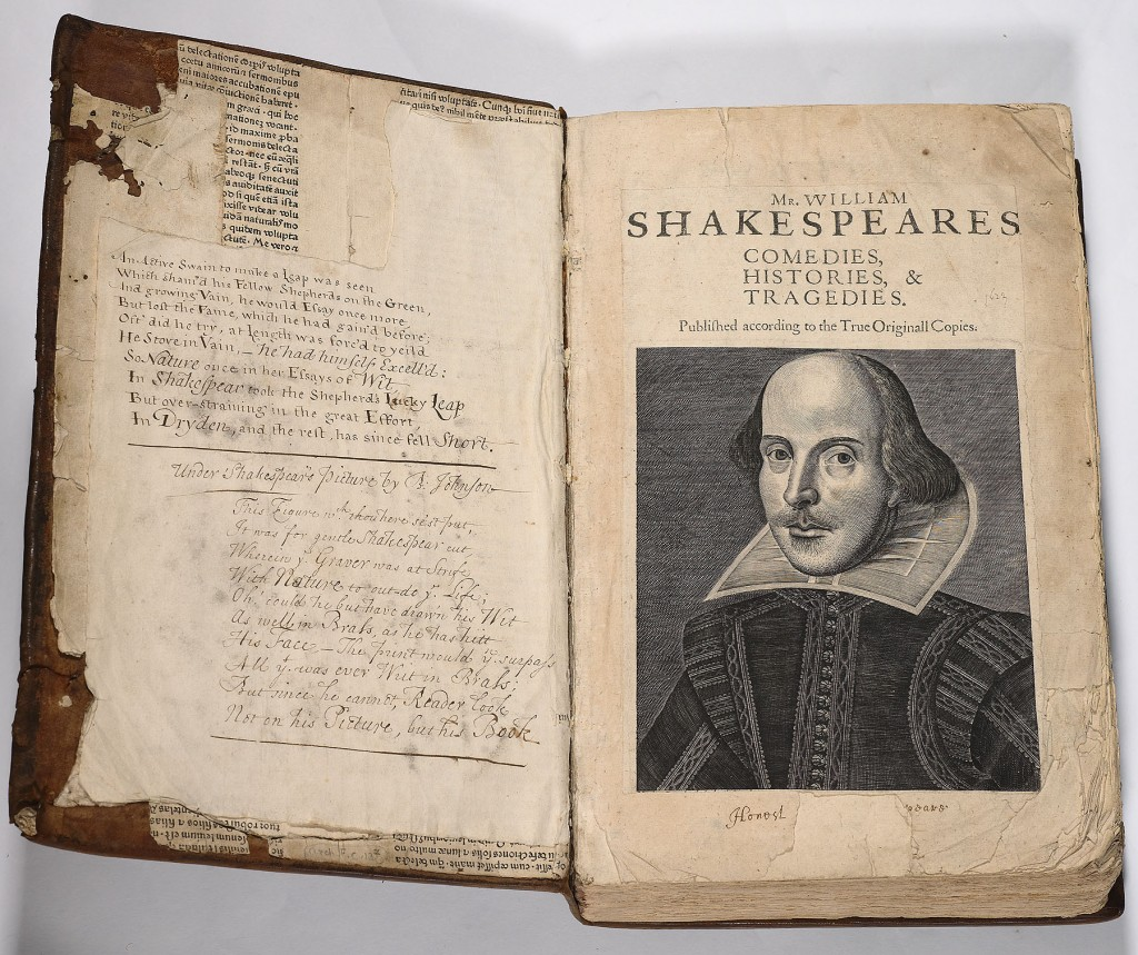 1b. Shakespeare First Folio