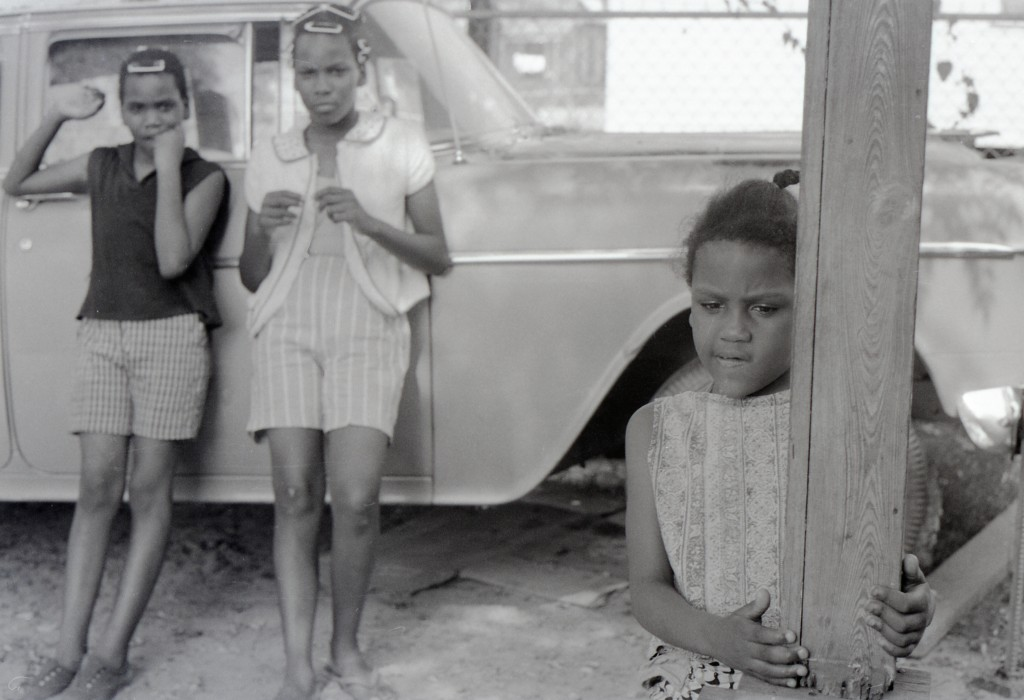 African-American children at the fish fry given for the volunteers by local civil rights leader Vernon Dahmer on his property at the Kelly Settlement on July 4, 1964. Photo by Herbert Randall from Herbert Randall Freedom Summer Photographs collection, McCain Library and Archives, the University of Southern Mississippi.