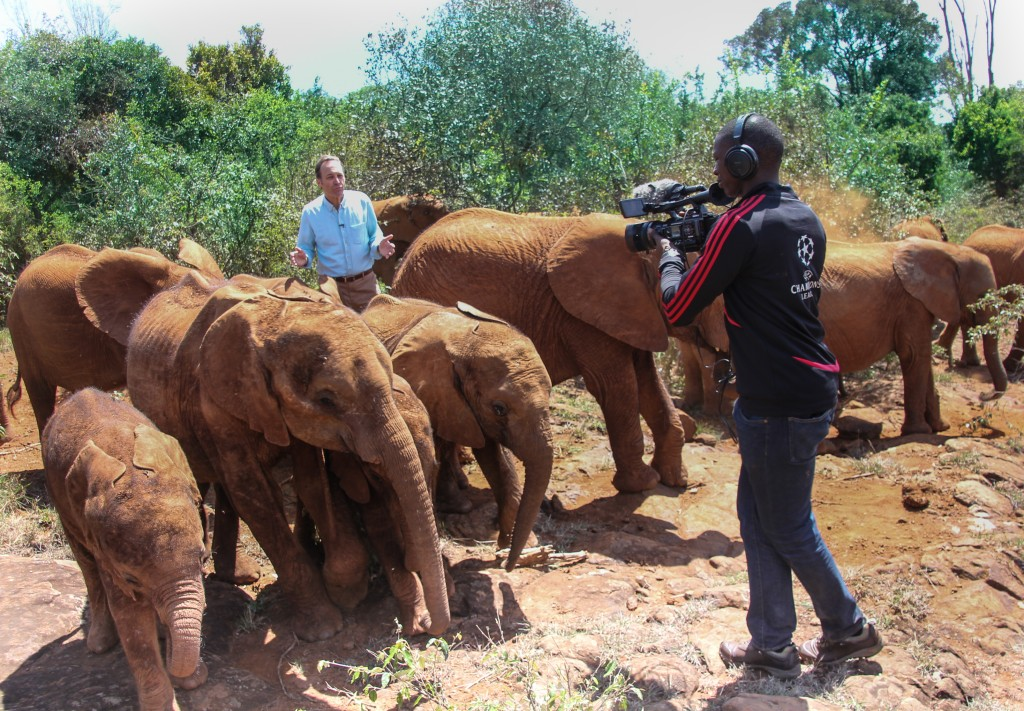 Jeffrey Brown traveled to Kenya as part of a reporting trip that includes a visit to the David Sheldrick Wildlife Trust. Photo by Molly Raskin