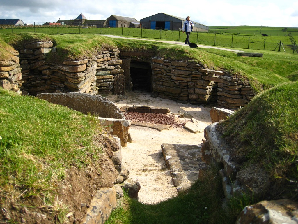 The Neolithic settlement at Skara Brae, Orkney in Scotland boasts the world's first indoor toilet, built into the village walls. Photo by Lorna Baldwin
