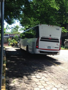 Buses carrying children turned back in Mexico arrive in El Salvador twice a week. Photo by Kate Sheehy/Fronteras Desk