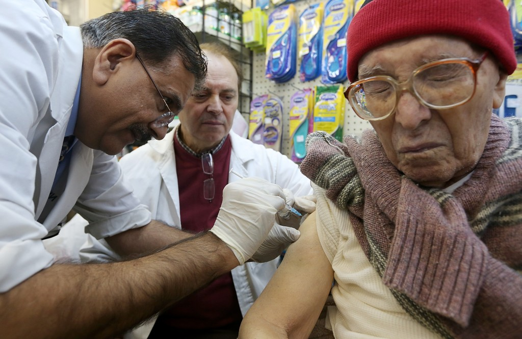 In January 2013, New York City declared a public health emergency as influenza swept the state, with nearly 20,000 people infected.  Photo by Getty Images/Mario Tama