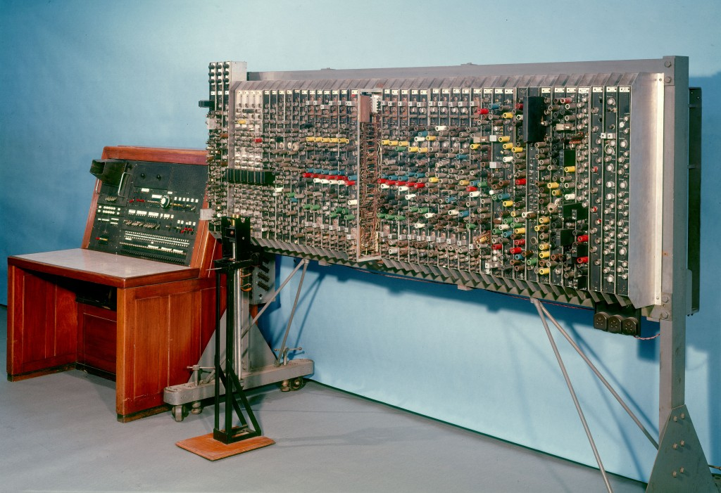 Pilot ACE, 1950, is one of Britain's earliest stored program computers and the oldest complete general purpose electronic computer. It was based on plans for a larger computer (the ACE) designed by the mathematician Alan Turing between 1945 and 1947. Photo by SSPL/Getty Images