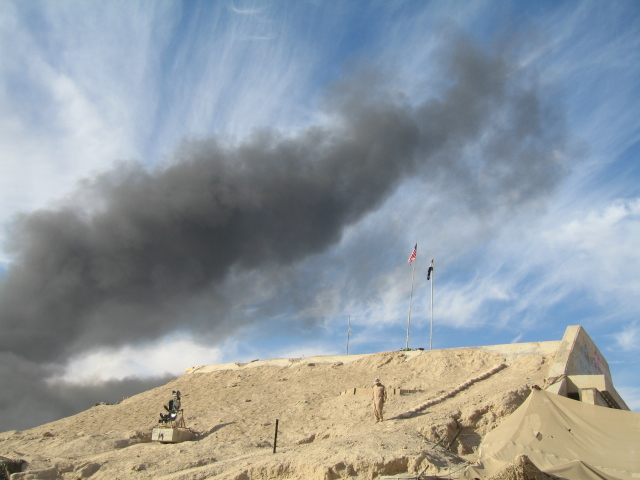 Al Taqaddum, Iraq, between 2006 and 2007. Photo by Elizabeth Hilpert