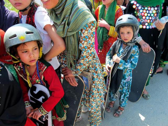 Boys and girls age 5-17 can participate in the skateboarding program. Photo courtesy of Skateistan