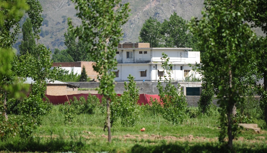 Al-Qaida leader Osama bin Laden's compound in Abbottabad, Pakistan, pictured on May 2, 2011. Photo by Farooq Naeem/AFP/Getty Images