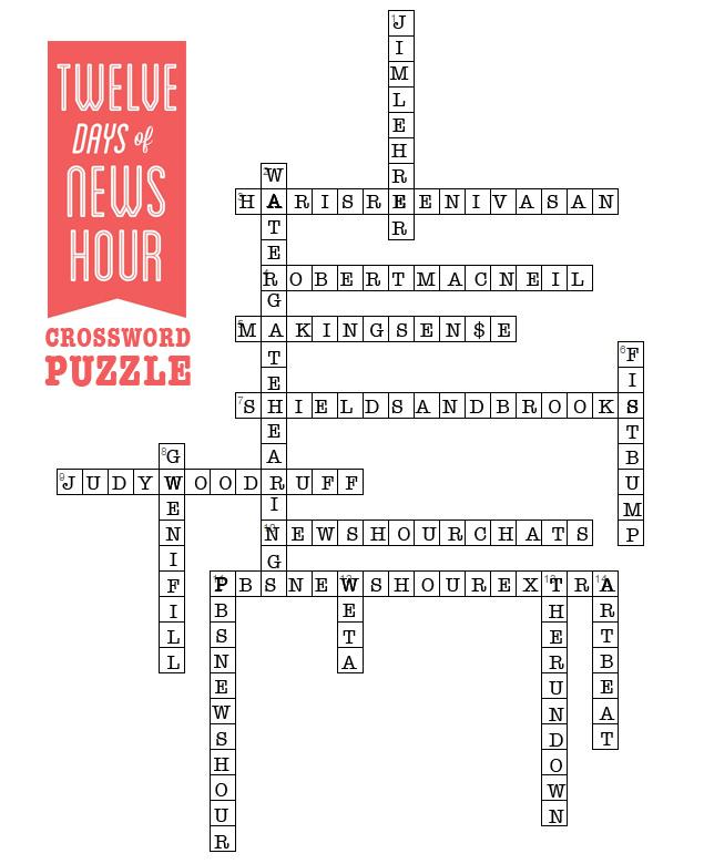 12 Days Of Newshour Sunday Crossword Pbs Newshour