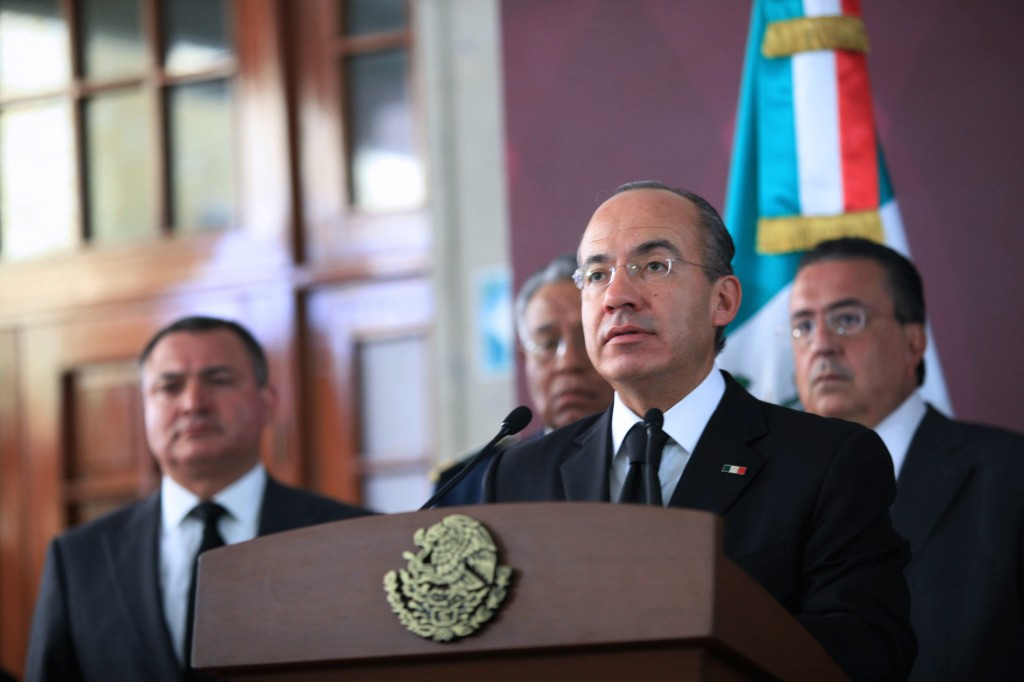 Former Mexican President Felipe Calderon Photo by AFP/Getty Images