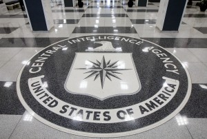 The seal of the Central Intelligence Agency is displayed at the original headquarters building in Langley, Virginia. Photo by Andrew Harrer/Bloomberg via Getty Images